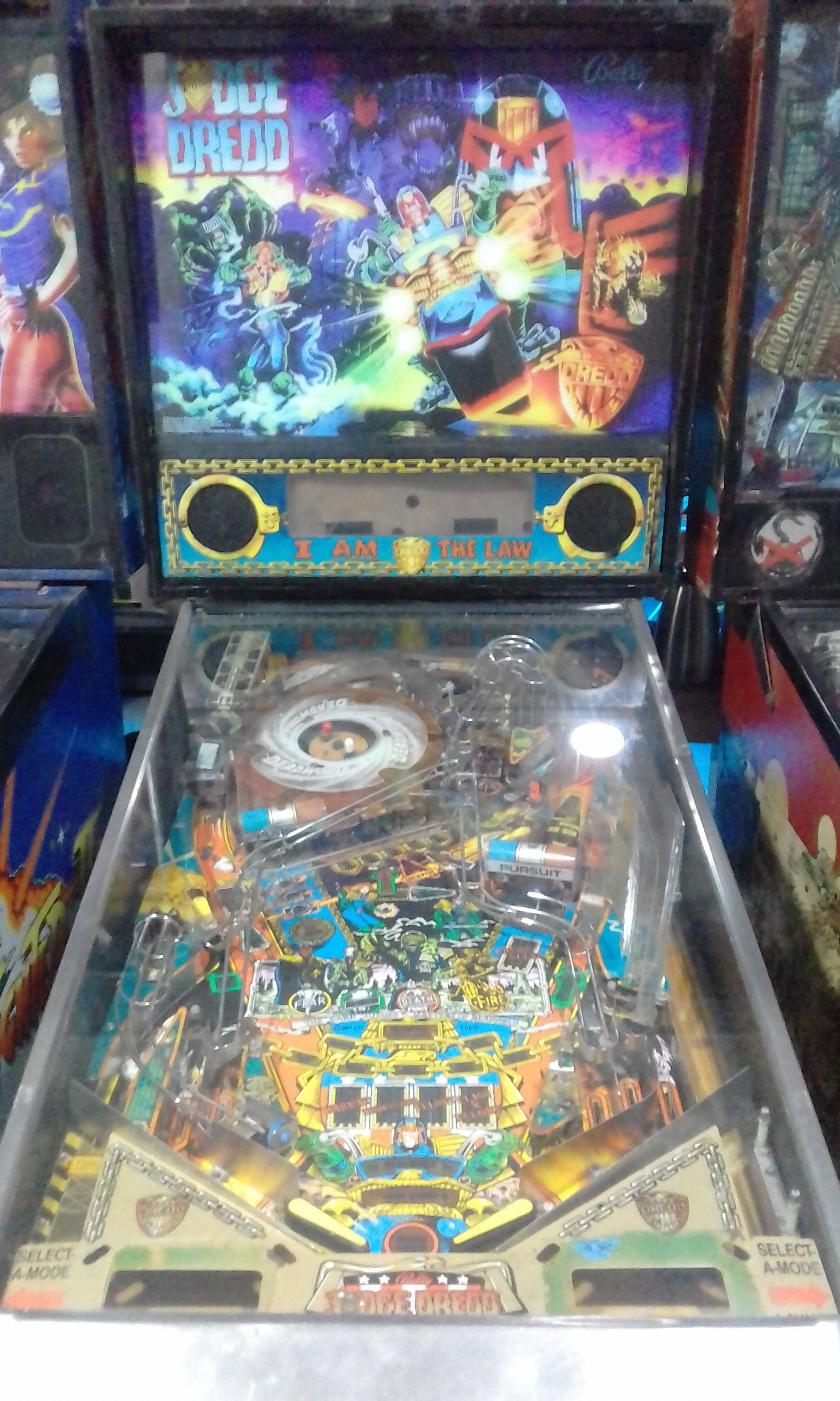 new style outlet store uk availability COSTA RICA PINBALLMACHINE JUDGE DREDD 1993 BALLY - Tebaide ...